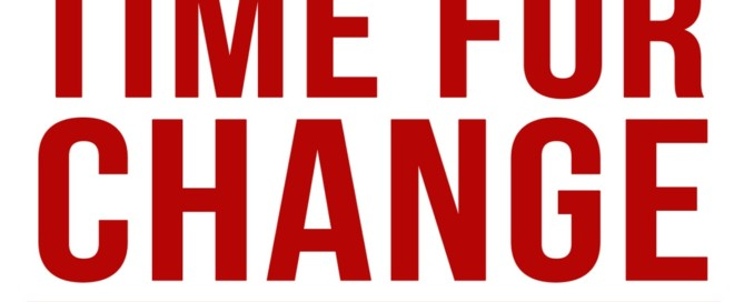Time for change banner